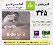 تک کلیپ 345-حال دلم /آصف آریا